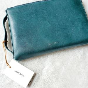 MATT & NAT NWT forest green clutch wallet